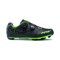 Zapatillas Ciclismo REBEL Antracita-Acid Verde NORTHWAVE