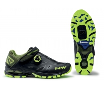 Zapatillas ciclismo SPIDER PLUS 2 Negro-Amarillo Fluo MTB-AM NORTHWAVE