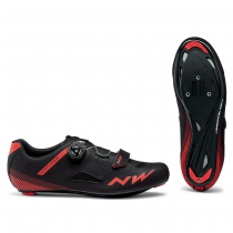 Zapatillas ciclismo CORE PLUS Negro-Rojo ROAD NORTHWAVE