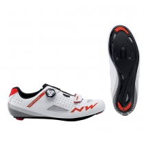 Zapatillas ciclismo CORE PLUS Blanco-Rojo ROAD NORTHWAVE