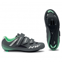 Zapatillas ciclismo CORE WMN Antracita-Verde ROAD NORTHWAVE