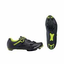 Zapatillas ciclismo RAZER Negro-Amarillo Fluo MTB-XC NORTHWAVE