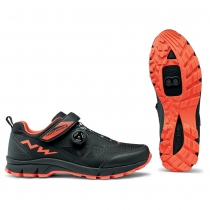 Zapatillas ciclismo CORSAIR Negro-Naranja MTB-AM NORTHWAVE
