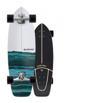 "SurfSkate Carver 31"" Resin Con Ejes CX Raw"