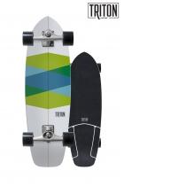 """SurfSkate Triton 32.5""""Green Glass Con Ejes CX 6.0 Nº2"""
