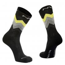 Calcetín Alto CORE Negro-Amarillo Fluo NORTHAVE