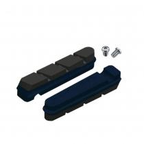 Zapatas de freno sueltas para bicicleta de carretera para carbono SRAM/Shimano - Azul/Negro JAGWIRE (Caja 20u)