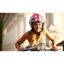 Casco Union Jack (Mate), Moto de NUTCASE.