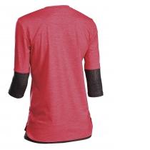 Camiseta manga 3/4 EDGE WMN Rojo-Gris