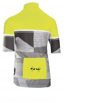 Maillot m/c ORIGIN JUNIOR Amarillo Fluo-Gris