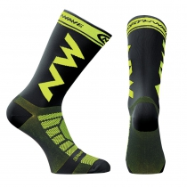 Calcetines EXTREME LIGHT PRO Negro-Lima Fluo NORTHWAVE