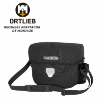 BOLSA MANILLAR ORTLIEB ULTIMATE SIX HIGH VISIBILITY SIN ADAPTADOR 7L NEGRO REFLECTANTE
