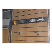 Banner Horizonta ORTLIEB - Slatwall - 90x14cm PVC