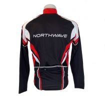 MAILLOT M/L PERFORMANCE WINTER. CREMALLERA TOTAL NEGRO-ROJO