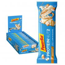 BARRITA POWERBAR PROTEIN NUT2 CHOCOLATE BLANCO ALMENDRAS 18 UNI