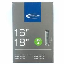 """Cámara Schwalbe 16/18"""" Válvula Moto AV4 AGV 40mm"""