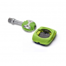 Pedales de Carretera Speedplay Zero Stainless color Team Verde con calas Walkable