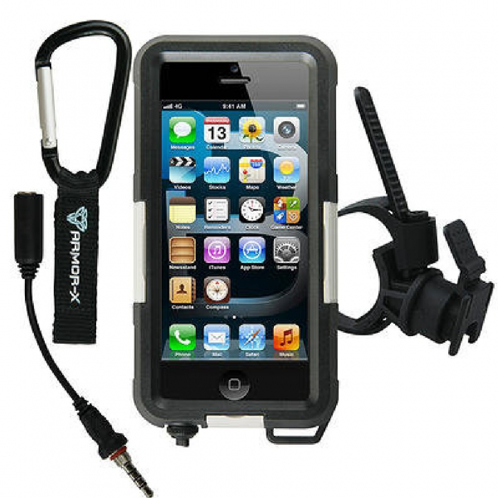Case Waterproof Sop. Man.+Auric.+clip Cint. iPhone 5