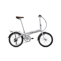 BICICLETA PLEGABLE JUNCTION 1307 COUNTRY PEARL WHITE (con guardabarros y portabultos) BICKERTON