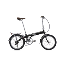 BICICLETA PLEGABLE JUNCTION 1307 COUNTRY MR-RAVEN BLACK (con guardabarros y portabultos) BICKERTON