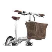 BICKERTON Cesta portabultos de Mimbre para bicicleta