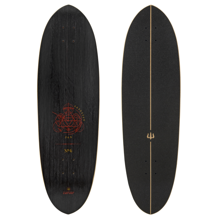 "Carver 33"" Deck Haedron No.6 with grip tape"