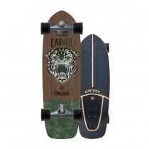 """SurfSkate Carver 29.5"""" Conlogue Sea Tiger Con Ejes CX Color Graphite"""