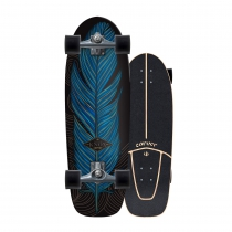 "SurfSkate Carver 31.25"" Knox Quill Con Ejes CX Color Graphite"