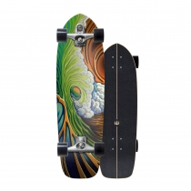 "SurfSkate Carver 33.75"" Greenroom Con Ejes C7 Color Raw"
