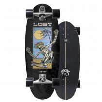 """SurfSkate Lost Carver 28"""" BeanBag Con Ejes C7 Raw"""