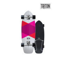 "SurfSkate Triton 29""Red Diamond Con Ejes CX 6.0"