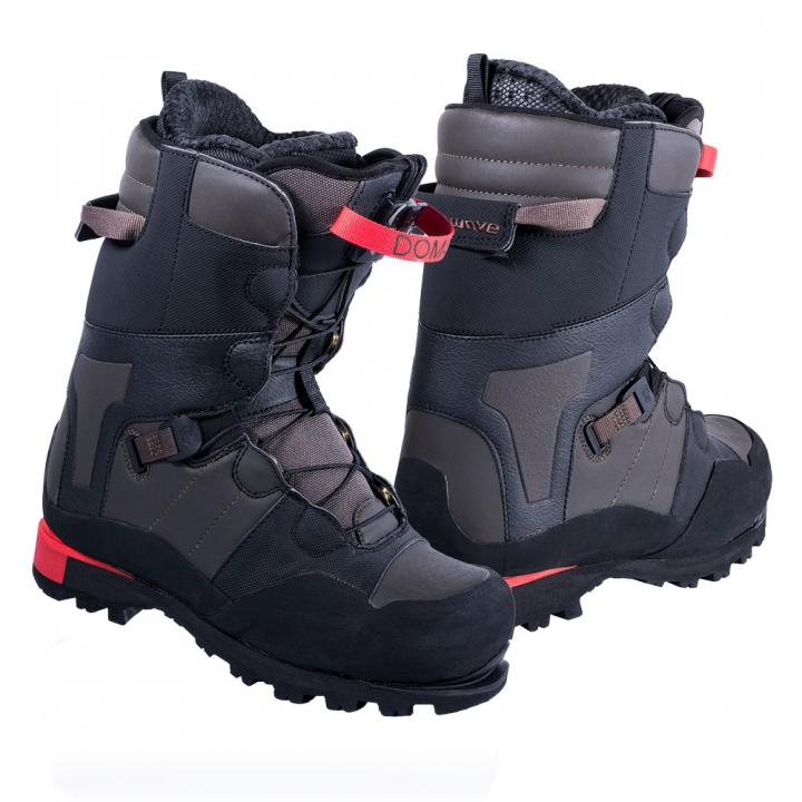 DOMAIN CR Botas Snow Negro-Marrón