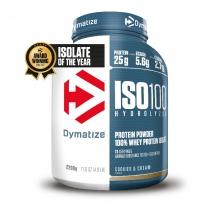 Proteína de suero de leche ISO100 COOKIES & CREAM 1 bote*2200gr DYMATIZE