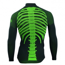 Camiseta Int. BODY FIT EVO m/l Negro-Amarillo Fluo
