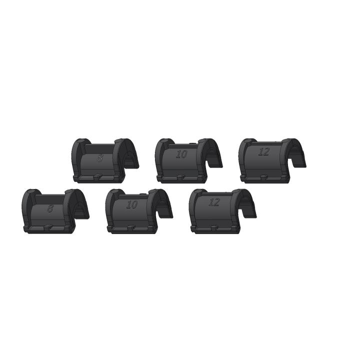 Casquillos para Ganchos QL2.1 Alforja 2x8, 2x10, 2x12mm ORTLIEB