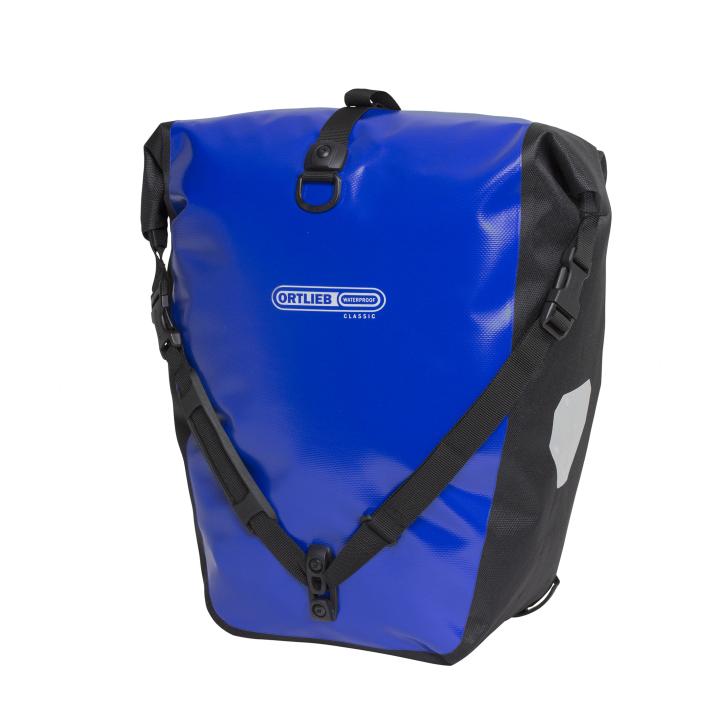 BACK-ROLLER CLASSIC QL2.1  Alforja Travel (2x)20Litros Azul-Negro PAR ORTLIEB