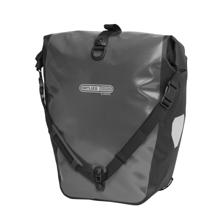 BACK-ROLLER CLASSIC QL2.1 Alforja Travel (2x)20Litros Antracita PAR ORTLIEB