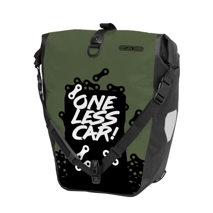 BACK-ROLLER DESIGN Alforja One Less Car 20L Oliva ORTLIEB