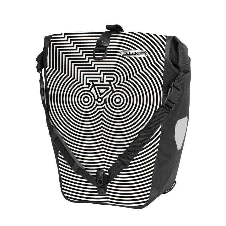 BACK-ROLLER DESIGN Alforja Cycledelic 20L Blanco-Negro ORTLIEB