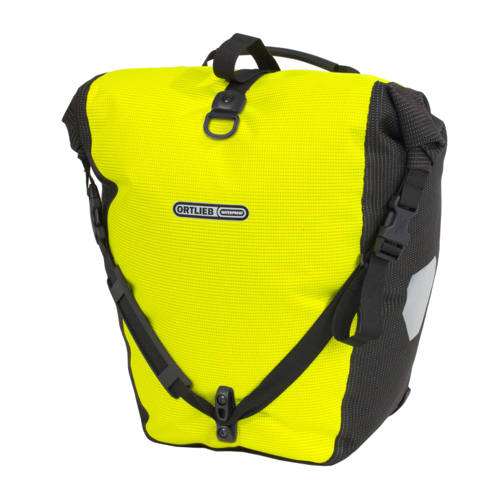BACK-ROLLER HIGH VISIBILITY QL2.1 Amarillo-Negro Reflectante ORTLIEB