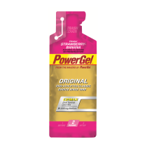 Gel de hidratos de carbono líquido POWERGEL + Sodio FRESA/BANANA 24u POWERBAR