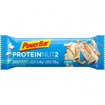 Barrita proteina PROTEIN NUT2 WHITE CHOCOL.COCONUT 18*(2*22,5)gr POWERBAR