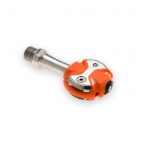 Pedales De Carretera Speedplay Zero Stainless Color Naranja Con Calas Walkable